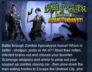 Zombie Apocalypse: Escape The Undead City STEAM GLOBAL
