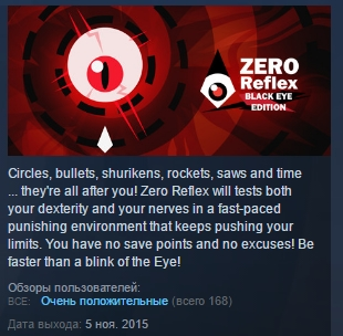Zero Reflex : Black Eye Edition STEAM KEY REGION FREE