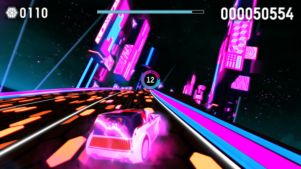 Riff Racer - Race Your Music! STEAM KEY REGION FREE ROW