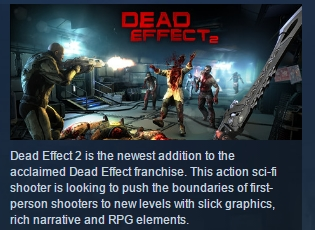 Dead Effect 2 ( Steam Key / Region Free ) GLOBAL ROW
