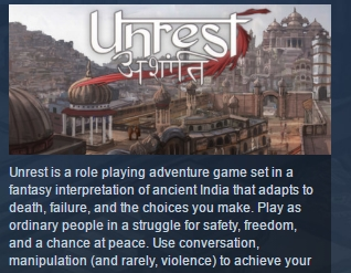 Unrest ( Steam Key / Region Free ) GLOBAL ROW