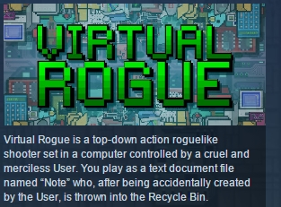 Virtual Rogue ( Steam Key / Region Free ) GLOBAL ROW