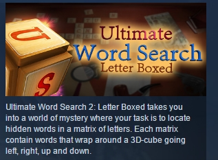 Ultimate Word Search 2: Letter Boxed STEAM REGION FREE