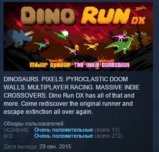 Dino Run DX ( Steam Key / Region Free ) GLOBAL ROW