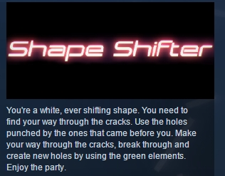 Shape shifter ( Steam Key / Region Free ) GLOBAL ROW
