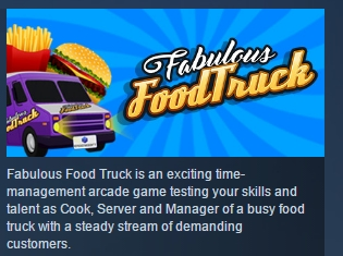 Fabulous Food Truck ( Steam Key / Region Free ) GLOBAL