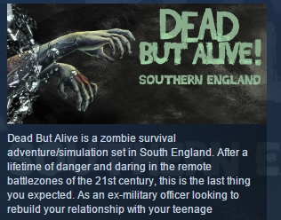 Dead But Alive! Southern England STEAM KEY REGION FREE