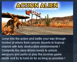 Action Alien ( Steam Key / Region Free ) GLOBAL ROW
