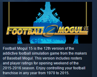 Football Mogul 15 ( Steam Key / Region Free ) GLOBAL