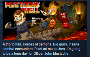 Mustache in Hell ( Steam Key / Region Free ) GLOBAL ROW