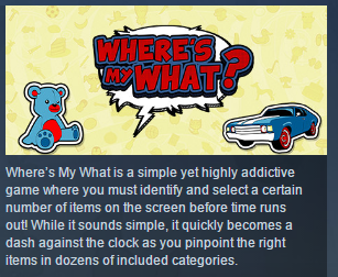 Wheres My What? ( Steam Key / Region Free ) GLOBAL ROW