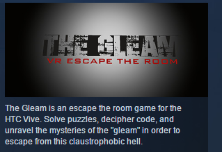 The Gleam: VR Escape the Room STEAM KEY GLOBAL ROW