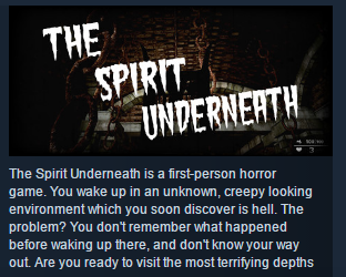 The Spirit Underneath ( Steam Key / Region Free) GLOBAL