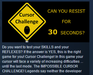 Cursor Challenge ( Steam Key / Region Free ) GLOBAL ROW
