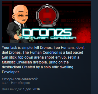 Drones, The Human Condition STEAM KEY REGION FREE