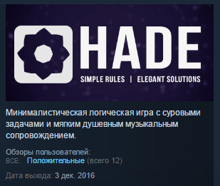 Hade ( Steam Key / Region Free ) GLOBAL ROW