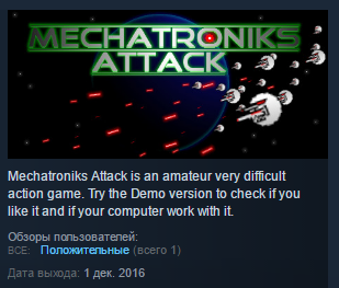 Mechatroniks Attack ( Steam Key / Region Free ) GLOBAL