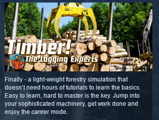 TIMBER! THE LOGGING EXPERTS ( Steam Key / Region Free )