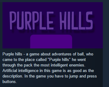 Purple Hills ( Steam Key / Region Free ) GLOBAL ROW
