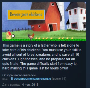 Rescue your chickens ( Steam Key / Region Free ) GLOBAL