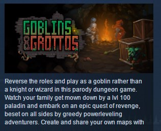 GOBLINS AND GROTTOS ( Steam Key / Region Free ) GLOBAL
