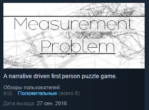 Measurement Problem ( Steam Key / Region Free ) GLOBAL