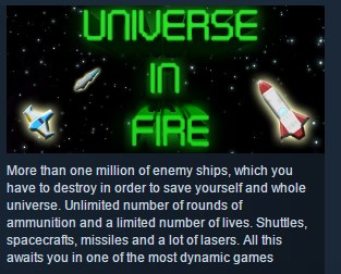 Universe in Fire ( Steam Key / Region Free ) GLOBAL ROW