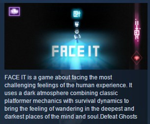 Face It - A game to fight inner demons STEAM KEY GLOBAL