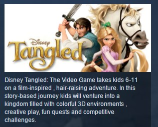Disney´s Tangled The Video Game STEAM KEY LICENSE