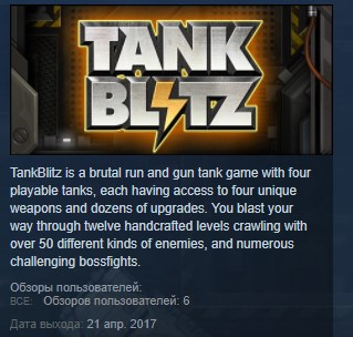 TankBlitz ( Steam Key / Region Free ) GLOBAL