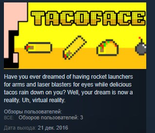 TacoFace ( Steam Key / Region Free ) GLOBAL