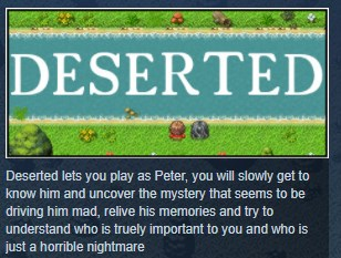 Deserted: The Story of Peter STEAM KEY REGION FREE GLOB
