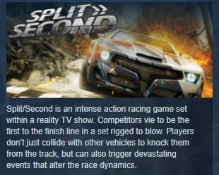 Split Second SplitSecond Velocity STEAM KEY ЛИЦЕНЗИЯ 💎