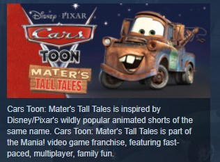 Disney Pixar Cars Toon: Maters Tall Tales STEAM KEY