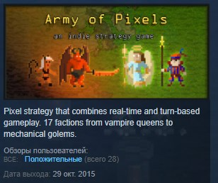 Army of Pixels STEAM KEY REGION FREE GLOBAL