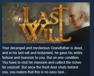 Last Will ( Steam Key / Region Free ) GLOBAL