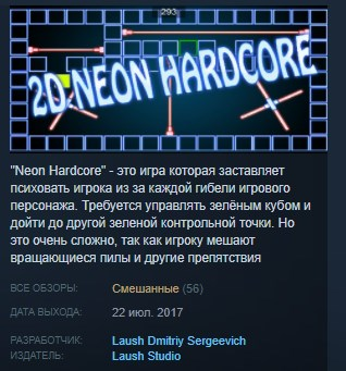 Neon Hardcore STEAM KEY REGION FREE GLOBAL