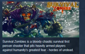 Survival Zombies The Inverted Evolution STEAM KEY