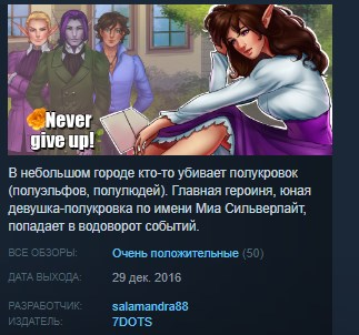 Never give up! STEAM KEY REGION FREE GLOBAL