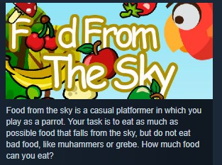 Food From The Sky STEAM KEY REGION FREE GLOBAL