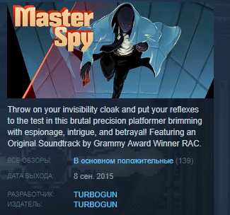 Master Spy Deluxe Edition STEAM KEY REGION FREE GLOBAL