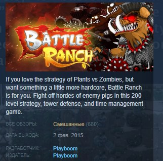 Battle Ranch: Pigs vs Plants STEAM KEY REGION FREE