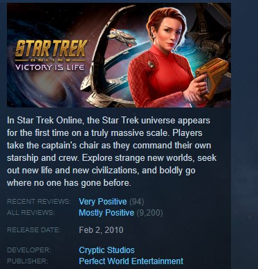 Star Trek Online Gamma Vanguard KEY REGION FREE GLOBAL