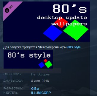 80´s desktop update wallpapers STEAM KEY REGION FREE