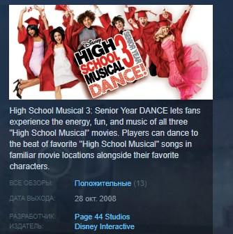 Disney High School Musical 3: Senior Year Dance STEAM