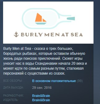 Burly Men at Sea STEAM KEY REGION FREE GLOBAL