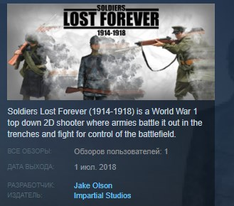 Фотография soldiers lost forever (1914-1918) steam key region free