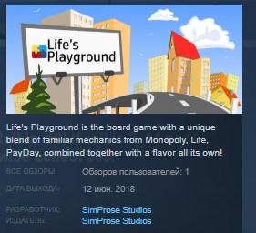 Life's Playground STEAM KEY REGION FREE GLOBAL 2019