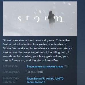 Storm VR STEAM KEY REGION FREE GLOBAL 2019