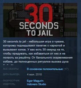 30 Seconds To Jail STEAM KEY REGION FREE GLOBAL 2019